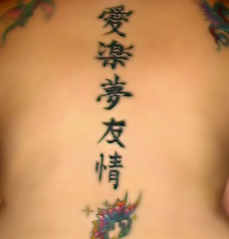 Chinese symbol tattoos are very popular today because they are really