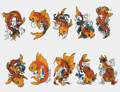 Tattoo Designs cartoon 1 - search ID ang0328 koi fish tattoos designs